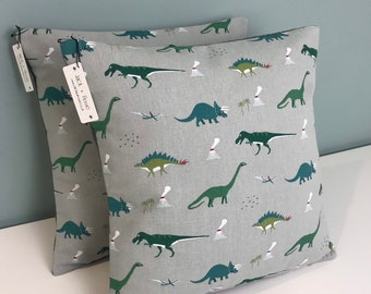 Dinosaur Cushion Cover  | Sophie Allport Fabric | Handmade | A variety of sizes |