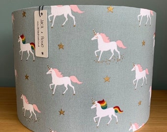 Unicorn Lampshade  | Sophie Allport Fabric | Handmade table lampshade or ceiling shade |