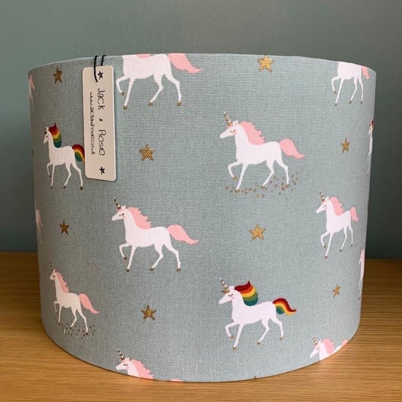 Unicorn Lampshade   Sophie Allport Fabric  Handmade table image 1