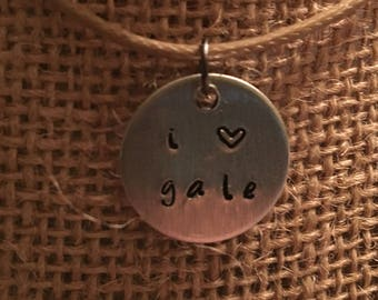 I love Gale necklace Hunger Games