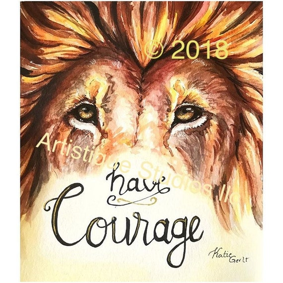 lion artwork watercolor lion art quote christian