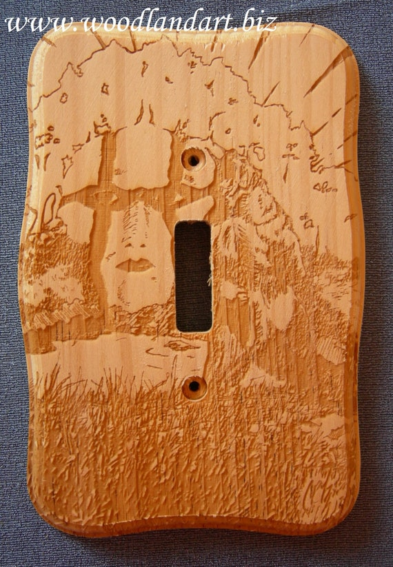 Sacred Places Roaring Bear Laser Engraved Decorative Wooden Etsy