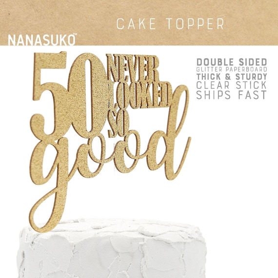 30 NEVER LOOKED SO GOOD GLITTER CAKE TOPPER 50th 60th 70th birthday decoration