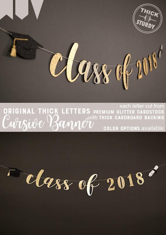 class of 2018 banner graduation banner graduation party etsy