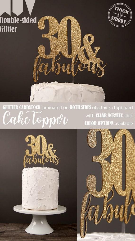 30 Fabulous Cake Topper 30th Birthday