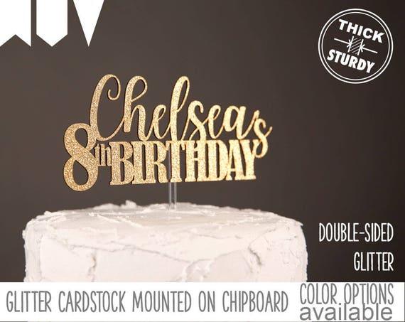 Phenomenal 8Th Birthday Cake Topper Personalized Cake Topper Custom Etsy Funny Birthday Cards Online Sheoxdamsfinfo