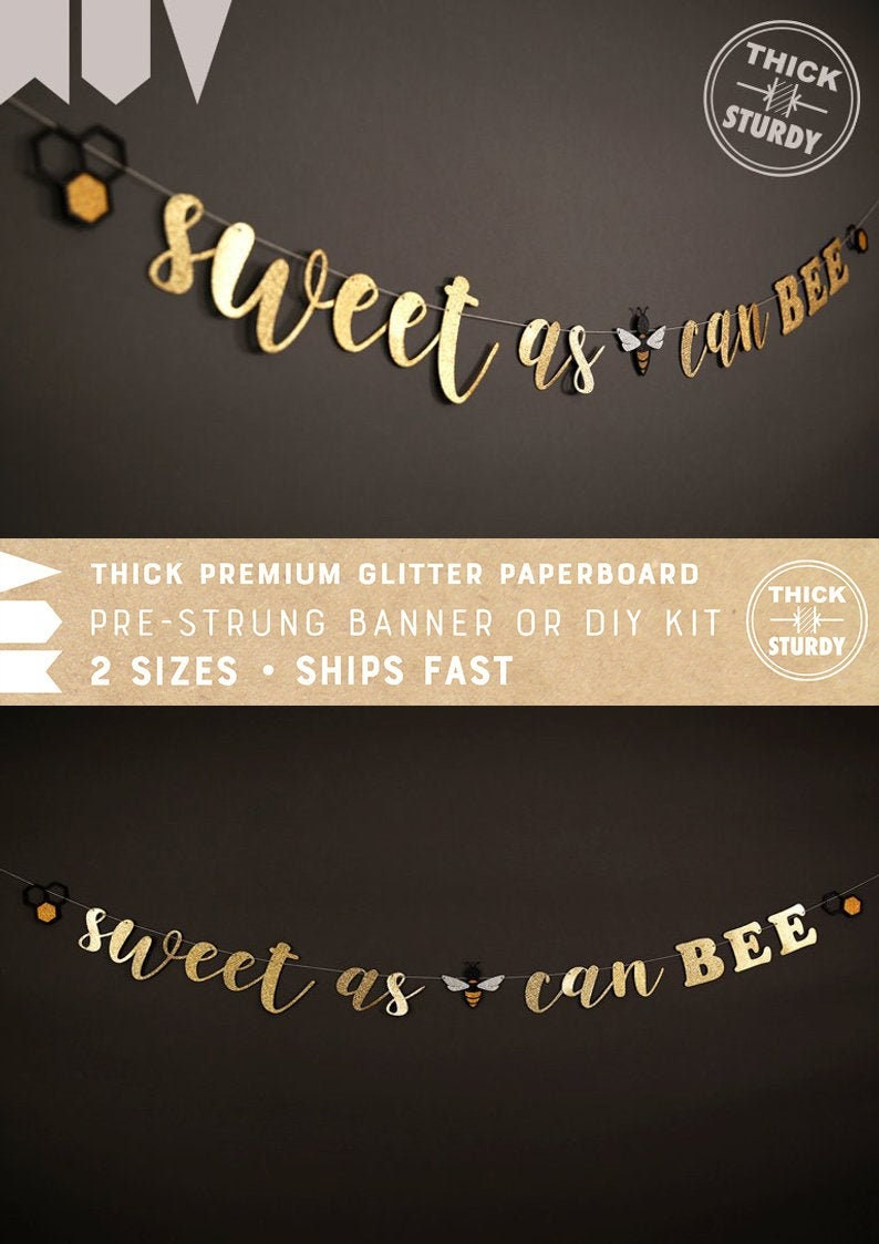 Bee Baby Shower Honey Dippers 10CT Sweet as can Bee Meant to Bee Party Decorations.
