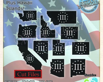 United States Map States Cut File Vector svg dxf png Cricut | Etsy