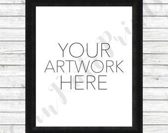 Download Free Vertical Frame Mockup - Black Frame Mockup - White Wood Mockup - 8x10 Photo Mockup PSD Template