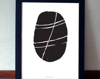 Nordic Style Poster, Geometric Wall Art Black & White, Scandinavian Art, Poster Minimal, Scandinavian Poster, Large Wall Art, Oversized art