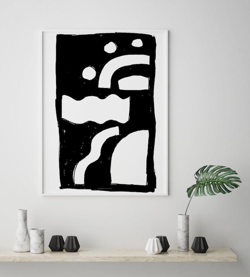 Black and White large wall art Printable wall art