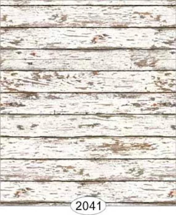 Dollhouse Distressed Wood Flooring Wallpaper Multiple Finish