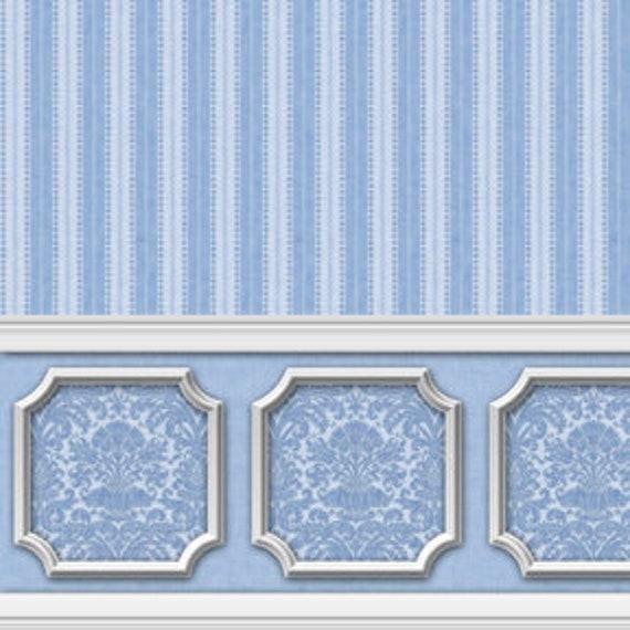 Dollhouse Wallpaper Annabelle Weave Gray Silver