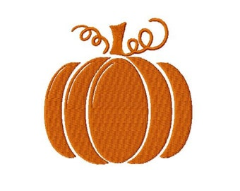 Thanksgiving Pumpkin Embroidery Design, 4x4 Hoop, Custom Size Free Request, 7 Formats
