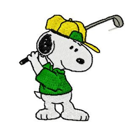 Snoopy spielen Golf Sport Stickerei-Design Instant Download | Etsy