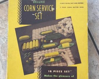 SALE Retro New in Box Serv-Rite Deluxe Corn Service Set
