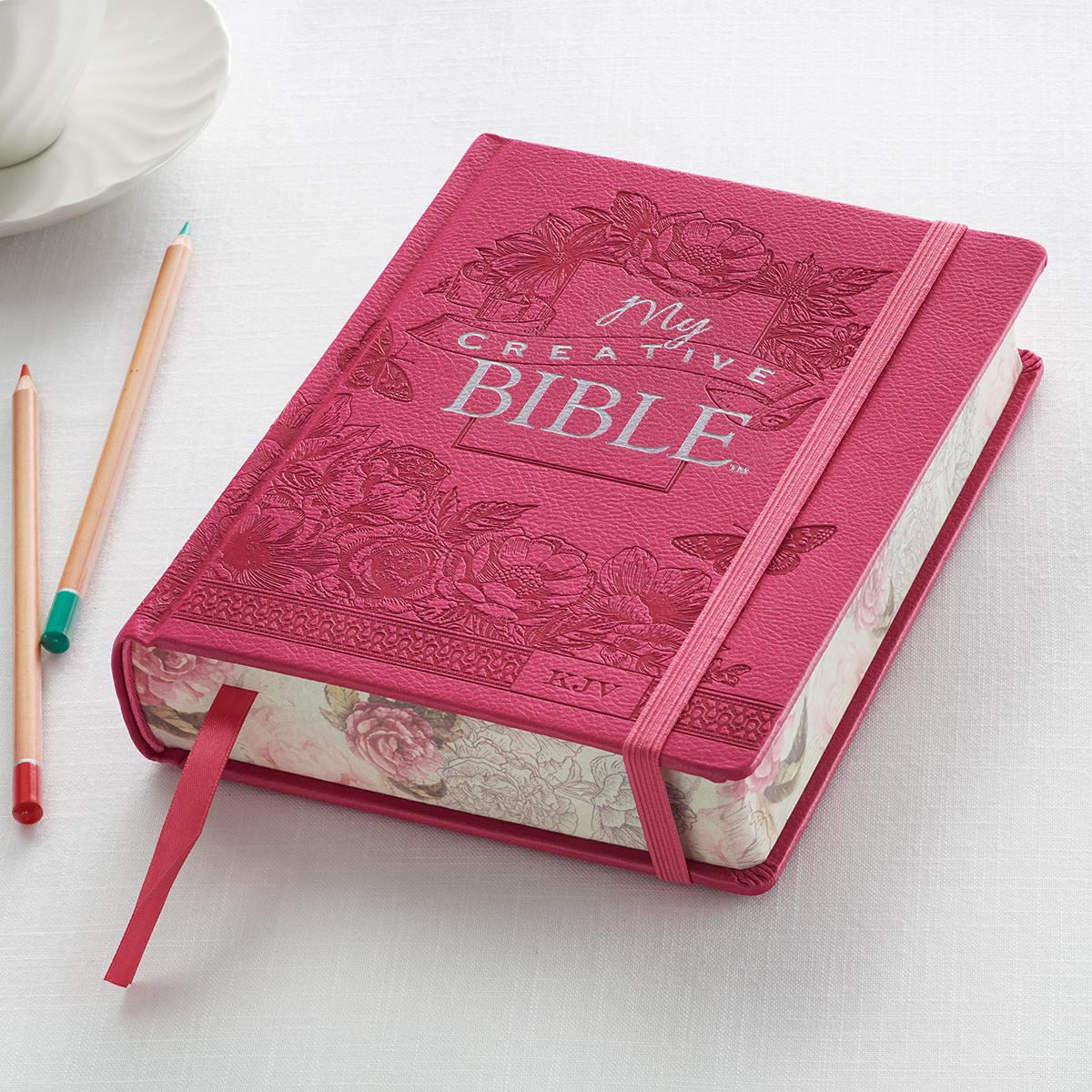 Journaling Bibles Pink Journaling Bible Creative   Etsy