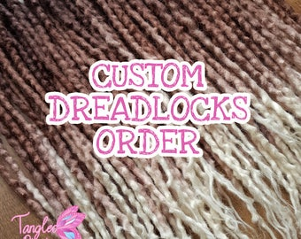 Custom Dreadlocks Order - Custom set of wavy wool dreadlocks