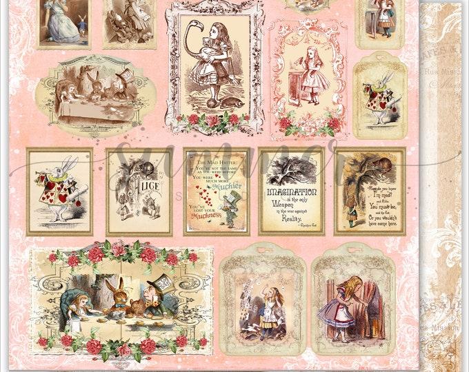 Summer Studio - Alice in Wonderland Single Sheet