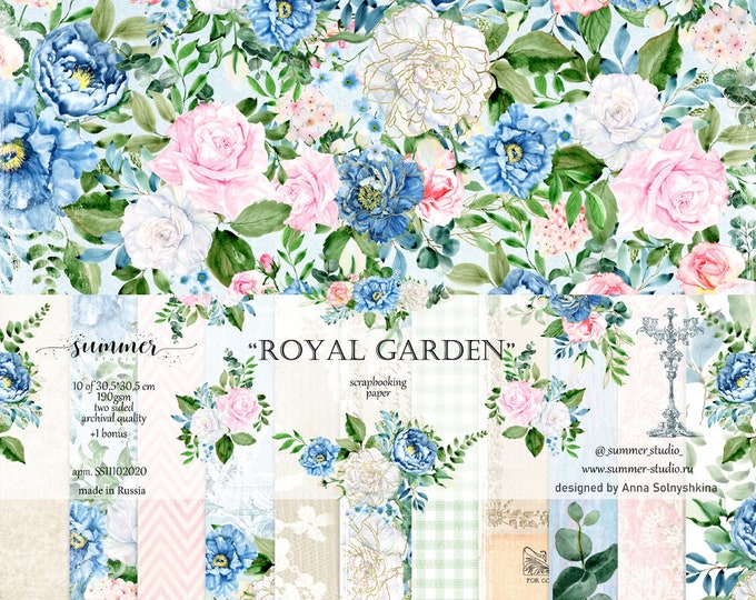 "Summer Studio - Royal Garden - 12x12"""