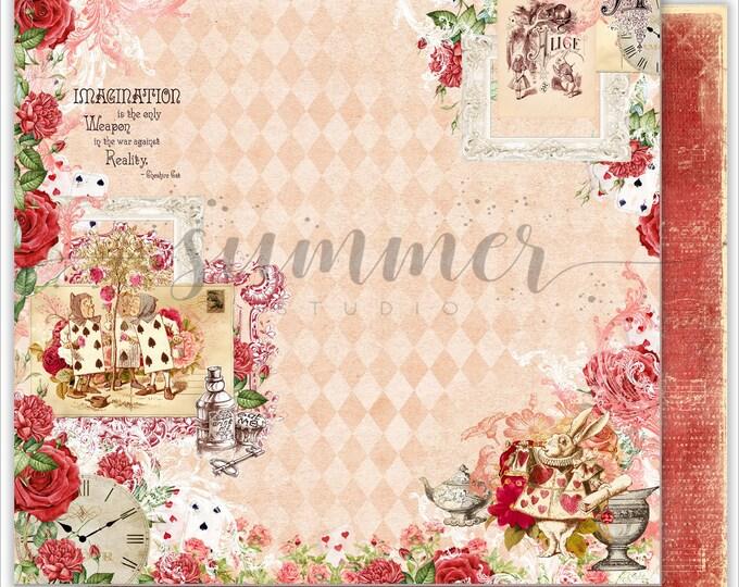Summer Studio - Alice in Wonderland - Imagination 12x12 single sheet