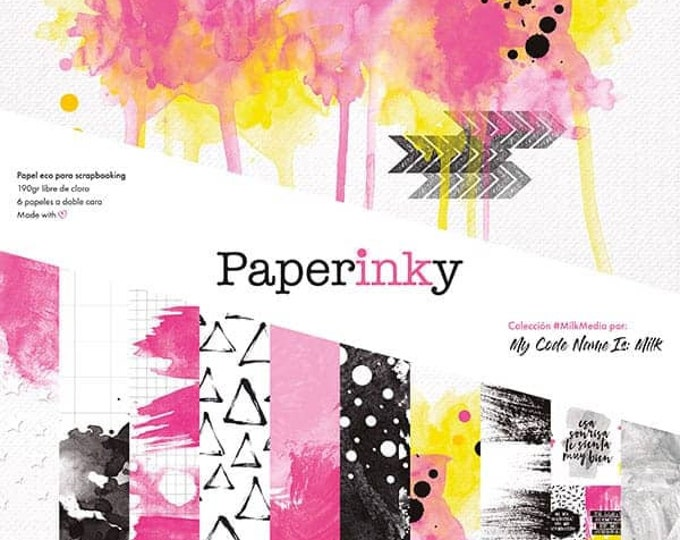 Paperinky Milkmedia - 12x12 paper pad