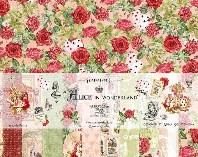 "Summer Studio - Alice in Wonderland - 12x12"""