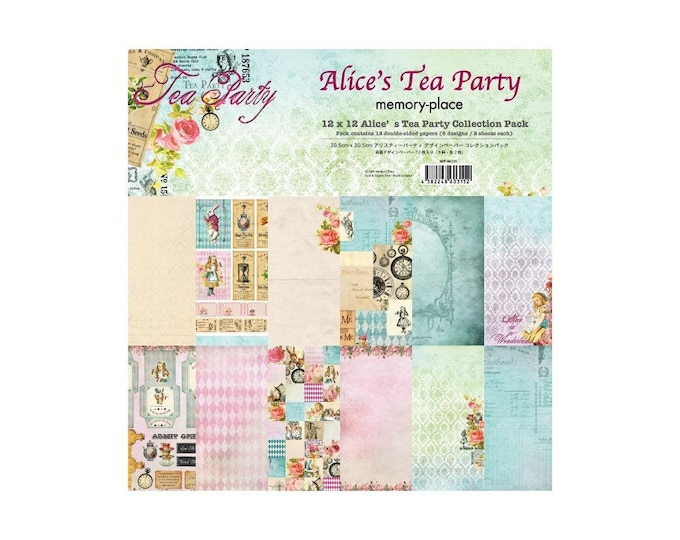 "Memory Place Paper -  Alice's Tea Party 12x12"""