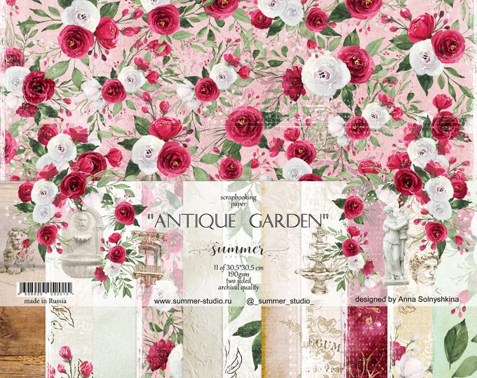 "Summer Studio - Antique Garden - 12x12"""