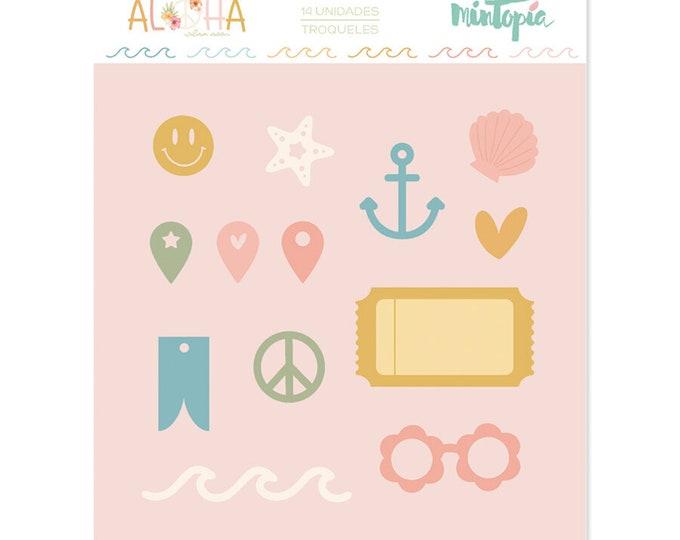 Mintopia Aloha -Iconos Y Ticket metal die