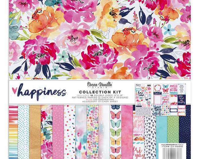 Cocoa Vanilla  Happiness - 12x12 Collection Kit
