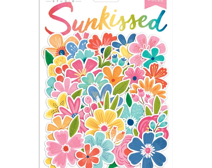 Cocoa Vanilla Sunkissed  Flowers - Die Cuts