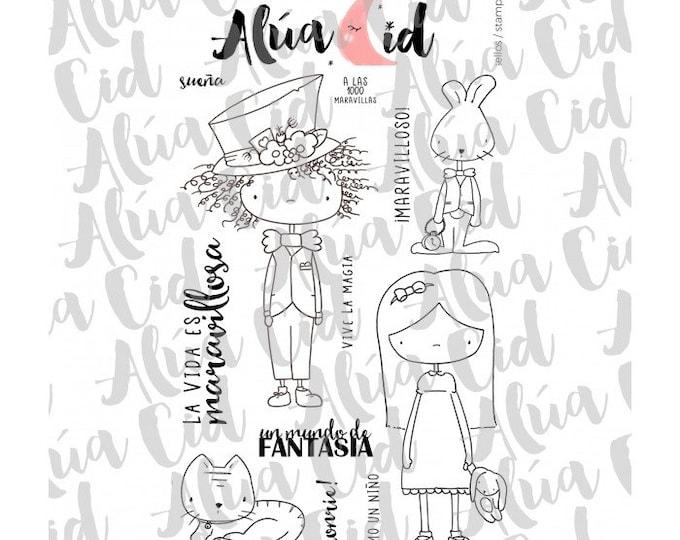 Alúa Cid - Mil Maravillas Stamp