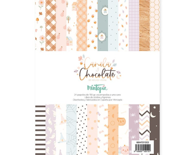 "Mintopia Canela & Chocolate-  6x8"" paper pad"