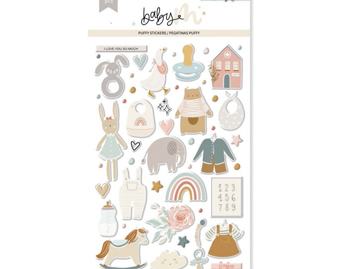 Lora Bailora Baby M -  Baby Puffy Stickers