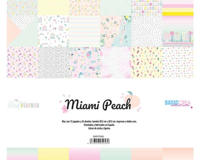 The Mint Feather - Miami Peach paper pack