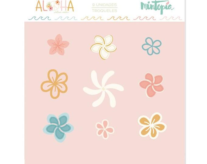 Mintopia Aloha -Mini Tropical Flowers metal die