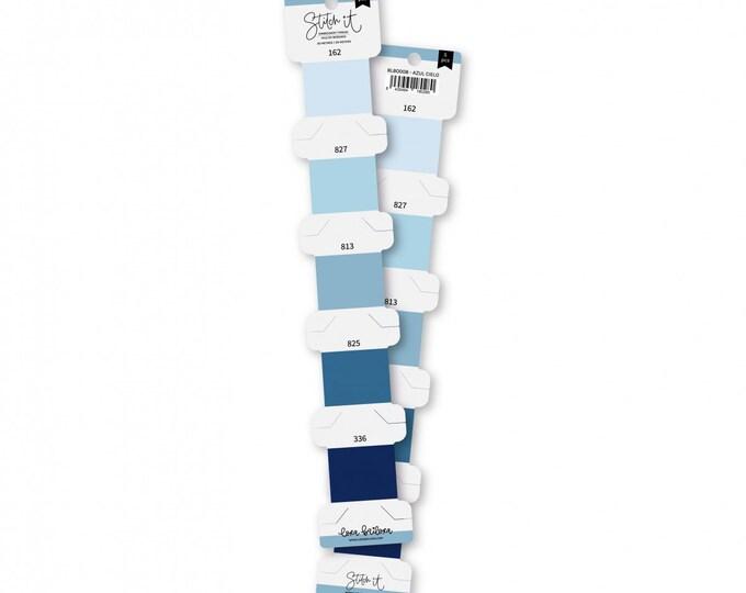 Lora Bailora - SKY BLUE embroidery threads set