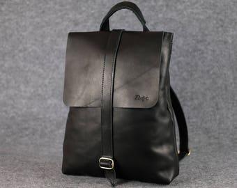 Women's universal backpack-bag, Laptop backpack, Leather backpack, Women's leather rucksack, Women leather backpack, City-Style leather bag