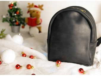 Leather Mini Backpack for Women 7325a394c914b