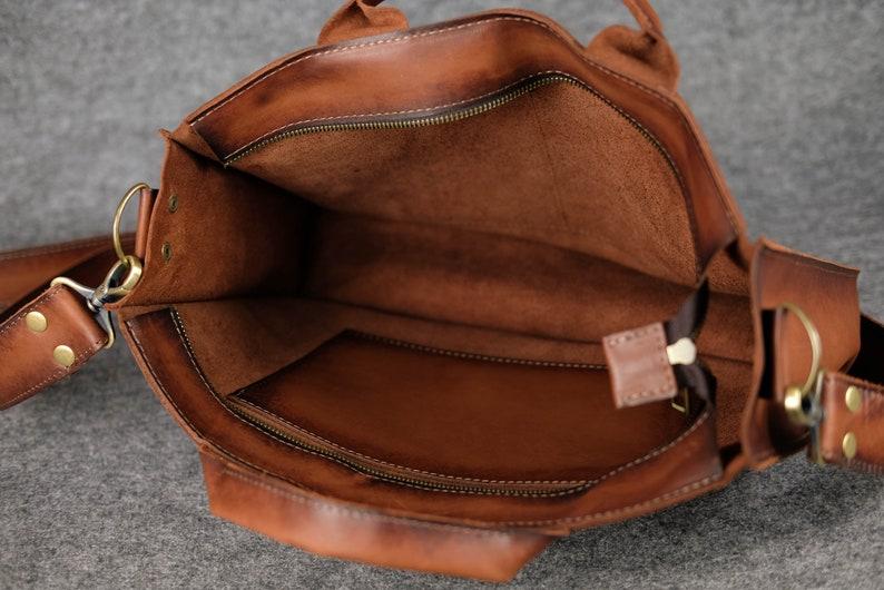 Vintage brown crossbody purse for men