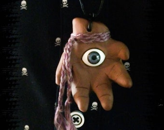 """Protective Magic - """"Cecil's Seeing Hand"""" - Evil Eye Warding Amulet"""