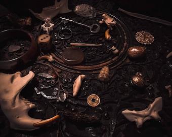"Divination Ritual Box - ""Cardinal Temptation"" - 35pc Assorted Curio Set"