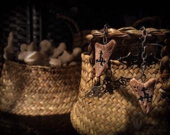 Deity Amulet - Lilith Sigil - Bat & Bone Gauge Weights