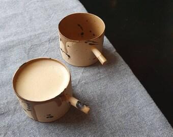 56 ml espresso coffee cup, Espresso tumbler, Handbuilt espresso ceramic mug, Handmade gift, House warming gift, Macchiato cup, 2 oz cup
