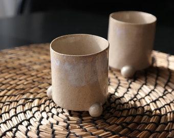 Espresso cup ceramic, Espresso mug pottery, Coffee tumbler, Three ball leg, Espresso lovers gift, Coffee lover gift,80 ml cup