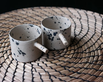 Speckle espresso cup, Espresso tumbler, Handbuilt espresso ceramic mug, Handmade gift, House warming gift, Macchiato cup, 2 oz cup