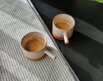 56ml espresso coffee cup, Espresso tumbler, Handbuilt espresso ceramic mug, Handmade gift, House warming gift, Macchiato cup, 2 oz cup