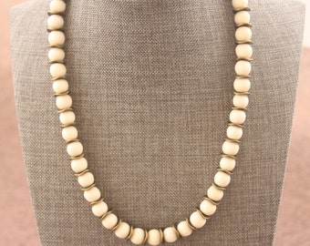 White and Bronze Necklace