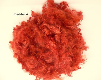 Plant-dyed mohair madder